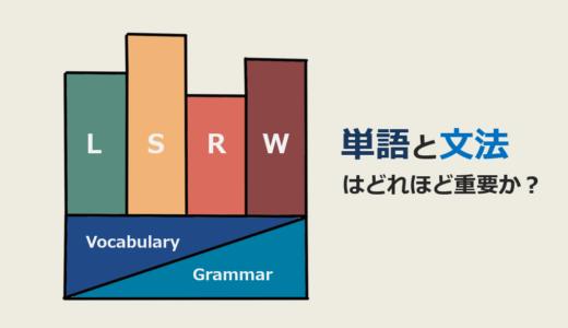 単語と文法が1番大切~英語の勉強を始める前に知っておきたいこと~